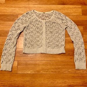 Free People crochet short cardigan size M